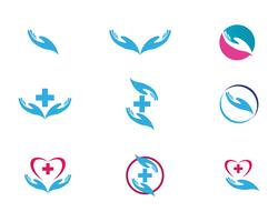 Hand help logo and symbols template icons