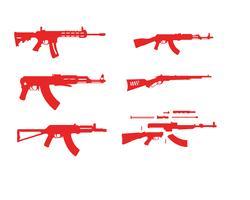 Modelli di simbolo di vettore di pistola