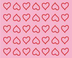 Modèles de logo symbole coeur d'amour vecteur