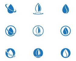 Water drop Logo Template vector