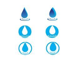 Waterdruppel Logo sjabloon vector