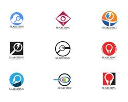 Search logo and symbol template vectors