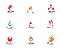 Vetor de gás e óleo de símbolo de logotipo de fogo