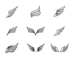 Modèle d'affaires logo et symbole de l'aile