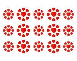 Love heart symbol logo templates vector