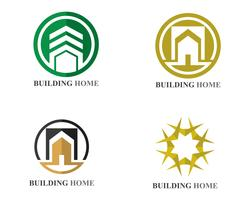 home buildings logo and symbols icons  vector