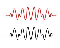 Puls lijn ilustratie vector sjablonen