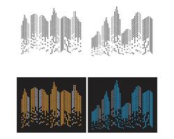 Modern City skyline . city silhouette. vector illustration in flat