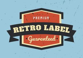 Retro Label on Blue Background vector