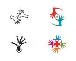 Hand Care Logo Template icon Negócios