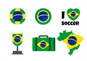 Brasil Flag Clipart Set
