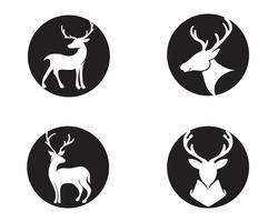 Diseño del ejemplo del icono del vector de los ciervos