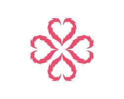 Liefdeshart logo en sjabloon