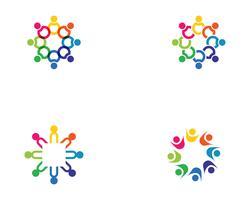 Community, network and social icon vector