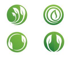Ecología deja ilustración de logotipo