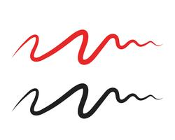 Modelli di vettore di illustrazione linea di impulso