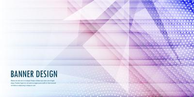 Abstract banner background with low poly design