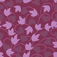 Papel pintado floral púrpura inconsútil