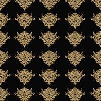 Fundo ornamental de luxo Webseamless. Damasco padrão floral sem emenda. Papel de parede real.