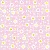 sweet cute flower pattern background