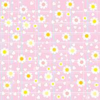 lieve schattige bloem patroon achtergrond