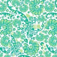 Carta da parati floreale verde senza cuciture