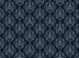 Fondo ornamental de lujo transparente. Damasco patrón floral sin fisuras. Papel tapiz real.