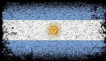 bandera argentina grunge vector