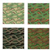 motif camouflage de couleur différente