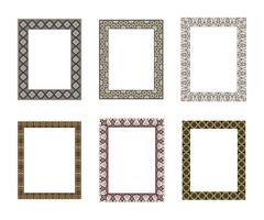 Vector decorative frame. Elegant element for design template, pl