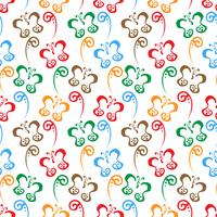 Butterfly hand drawn colorful Pattern background vector