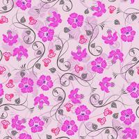 Carta da parati floreale viola senza soluzione di continuità