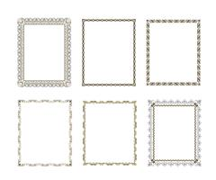 Set luxury decorative frame