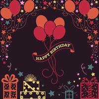 Fondo dell'illustrazione di buon compleanno
