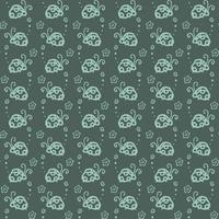 Fondo de patrón de colores de escarabajo con color azul