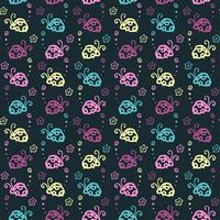 beetle colorful pattern background with pastel color