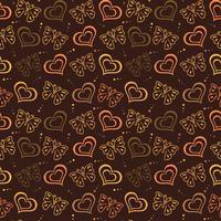 Papillon amour dessiné à la main Modèle avec couleur marron