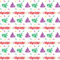 colorful Happy birthday pattern Background