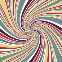 Línea abstracta girar el foco con fondo de color retro