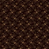 dragonfly pattern background with orange color