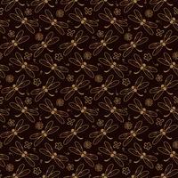 Dragonfly patroon achtergrond met oranje kleur