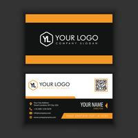 Modern Creative and Clean Business Card Template with orange black color