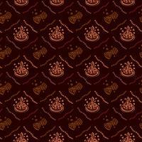 Gelukkige verjaardag hand getrokken patroon achtergrond met bruine kleur
