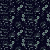 Padrão de feliz aniversário Fundo com cor escura