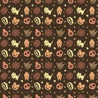 Fondo lindo patrón de halloween con color marrón