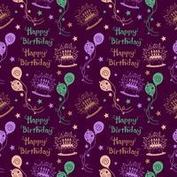 Gelukkige verjaardagspatroon Achtergrond met pastelkleur