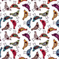 bunte Vogel Hand gezeichnete Muster Hintergrund