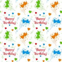 Happy birthday colorful  pattern Background
