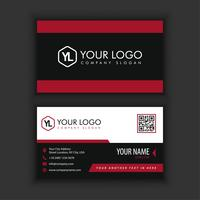 Modern Creative and Clean Business Card Template with red blackcolor