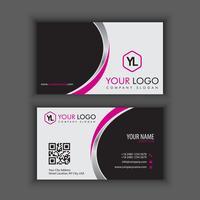 Modello di biglietto da visita creativo e pulito moderno con colore viola cromato